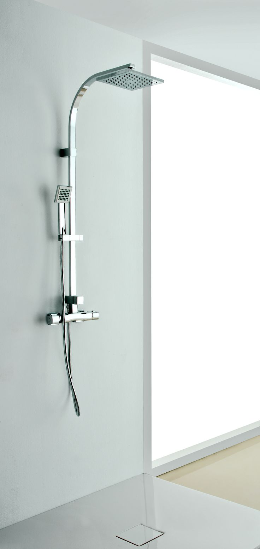 Square shower column by Acquaidro