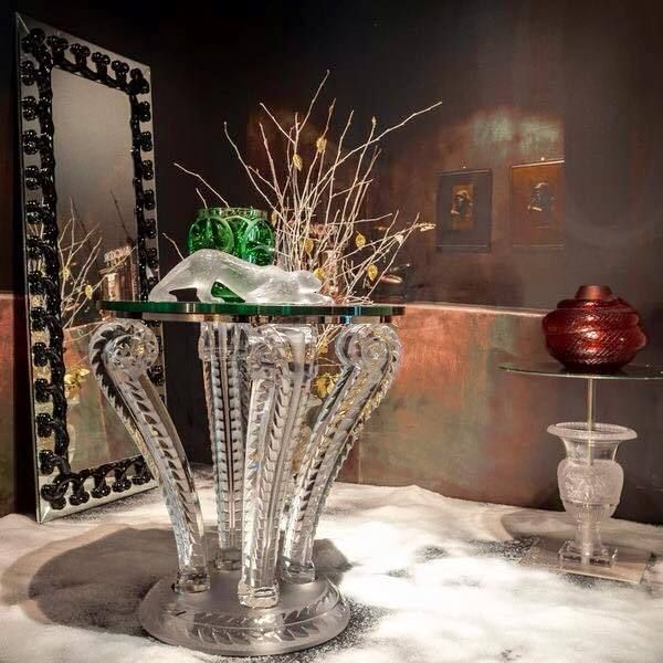 Rene Lalique Crystal Cactus Console Table, 1920s