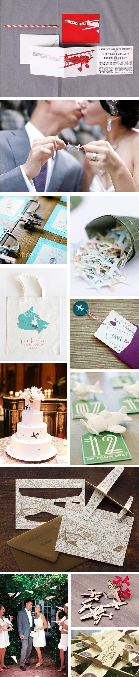 Airplane Themed Destination Wedding Details