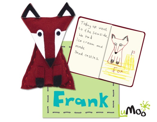 Fox Travel Buddy Kit by LuMoo. This sew your own fox kit comes in a lovely suitcase, along with a mini blanket and passport for writing about all of your adventure together.