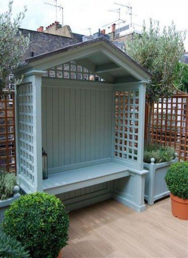 Milverton Seat Arbour by Stuart Garden Architecture