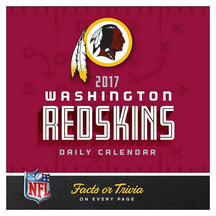 Washington Redskins 2017 Daily Boxed Calendar, Multicolor