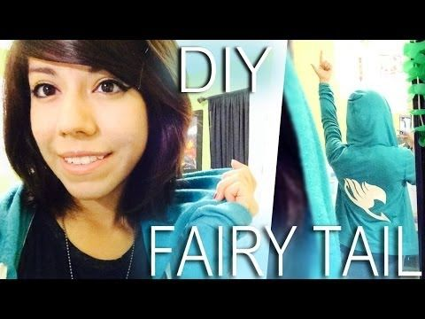 ▶ DIY: FAIRY TAIL HOODIE - YouTube Thought this was pretty cool and simple for all you anime or just Fairy Tail lovers out there.