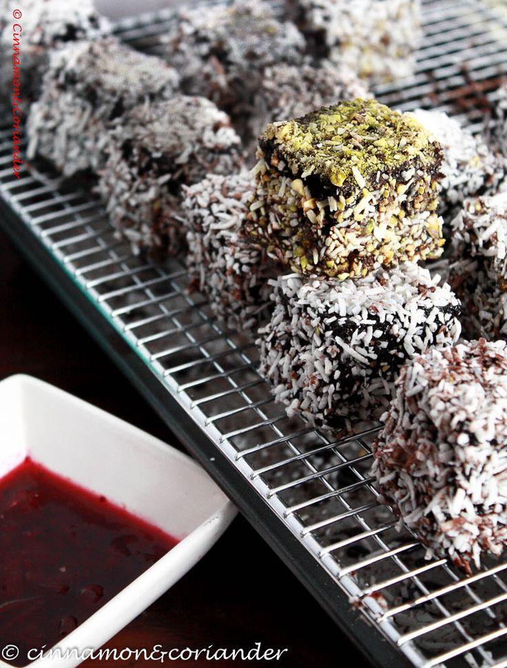 Double Chocolate Cherry Lamingtons