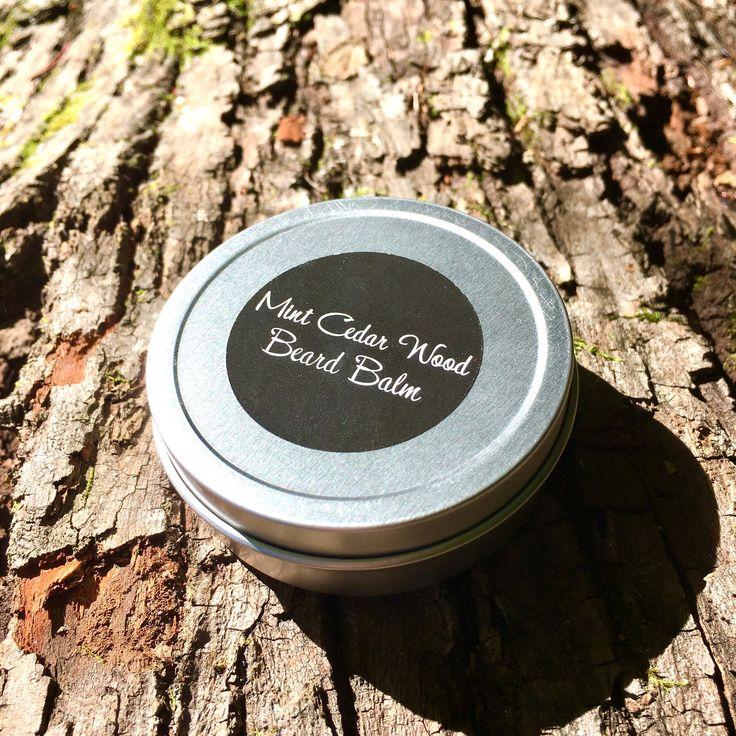 Mint Cedar Wood Beard Balm | Natural Beard Balm | Beard Gifts | Beard | Vegan Beard Balm | Organic Beard Balm | Mustache Balm by madewithlovebykm on Etsy https://www.etsy.com/listing/518793638/mint-cedar-wood-beard-balm-natural-beard