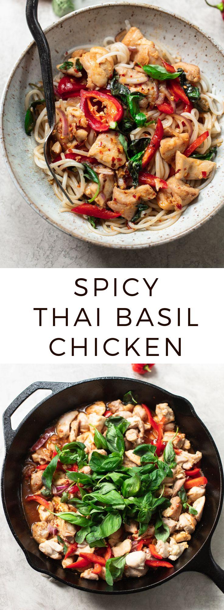 Fresh Thai Basil Chicken with Chili Garlic Sauce