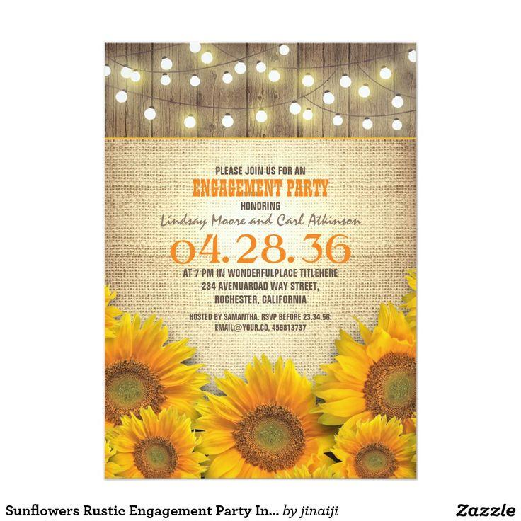 252 best WOOD WEDDING Invitations images on Pinterest | Engagement ...
