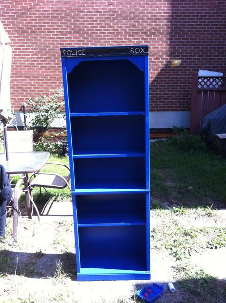 Picture of Tardis Bookshelf Project.