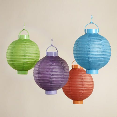 mixed spring colors lanterns pack of 4