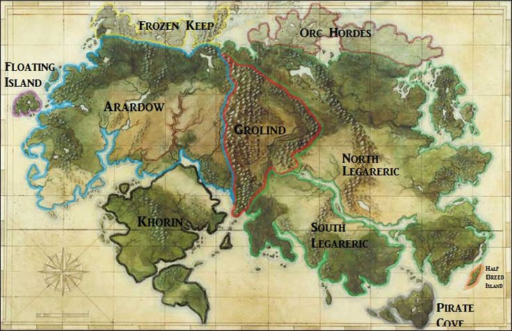 Map of a fantasy realm...