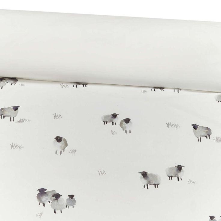 BuyJohn Lewis Highland Sheep Print Cotton Duvet Cover and Pillowcase Set, Single Online at johnlewis.com