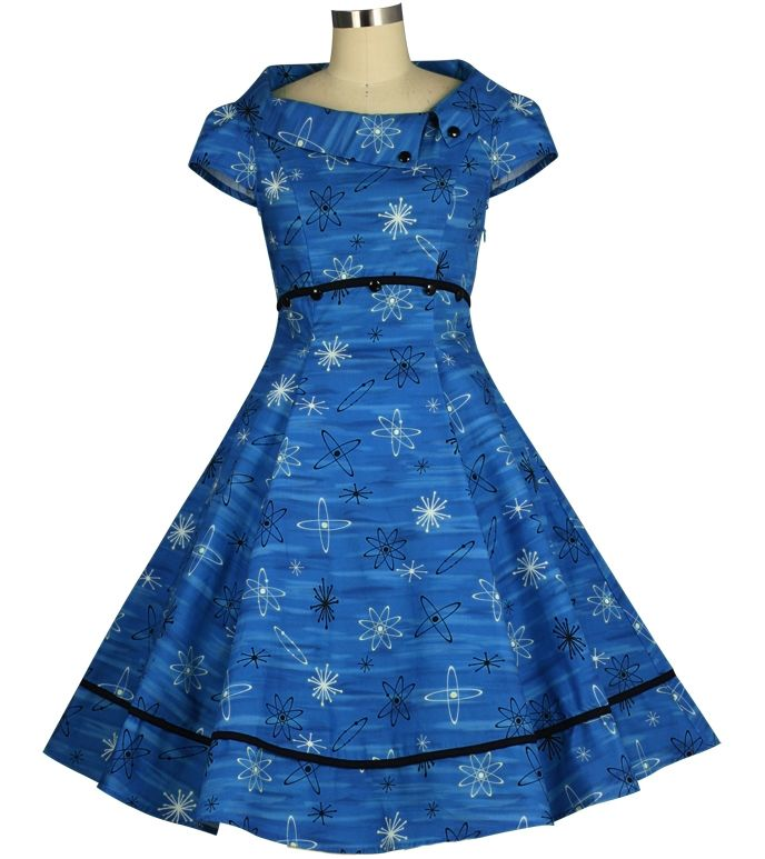 Automic Retro Dress ChicStar $56 Standard size $61 Plus Size -- Design by Amber Middaugh and Guylian K