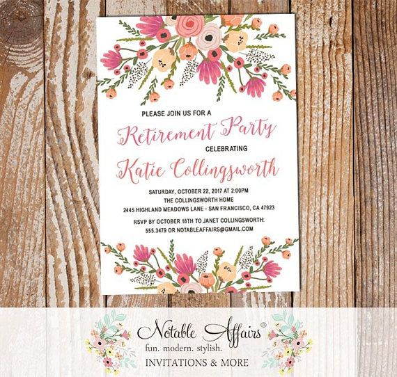 Best 25+ Retirement party invitations ideas on Pinterest - retirement party flyer template