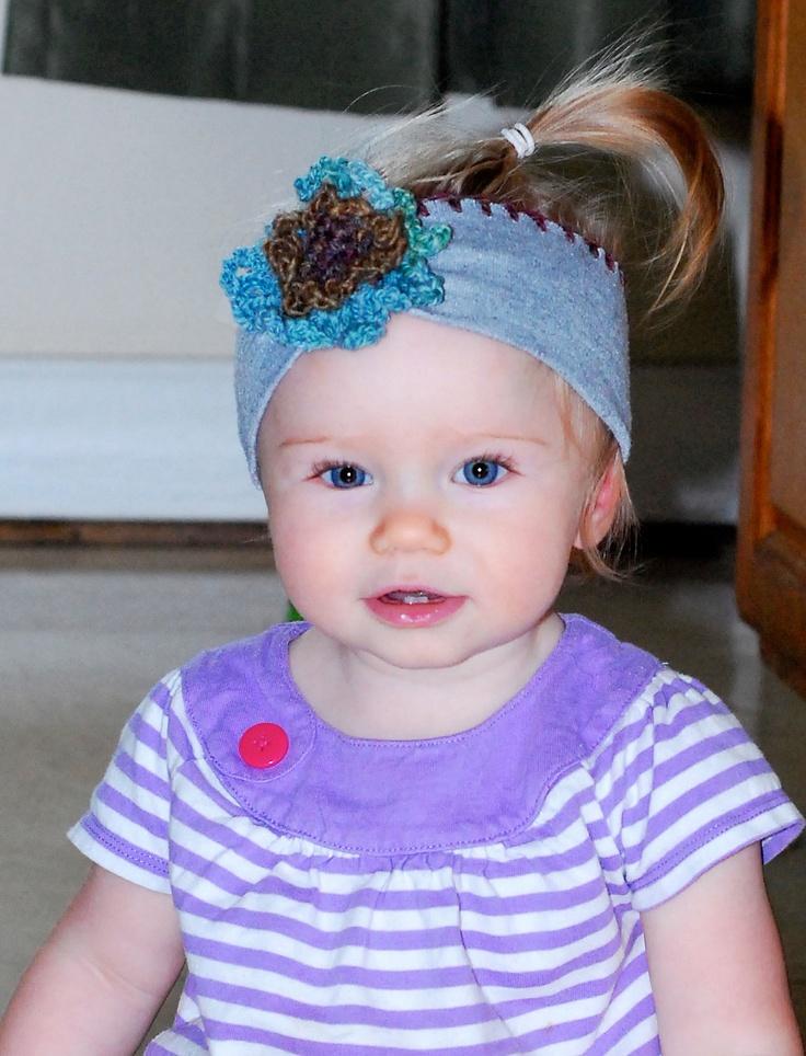 Upcycled Baby Headbands Flower Girl