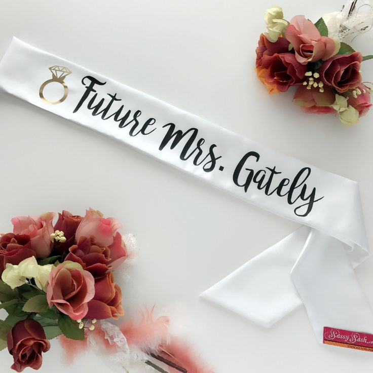 The cutest custom sash for the lucky Bride to Be. The best part is you can customize it with the brides future last name! Custom Future Mrs Sassy Sash / Boho Bride sash / Bachelorette sash / Bride to Be sash / Hen Night sash / Bachelorette sash / Bride Gift by SassySashSashes on Etsy