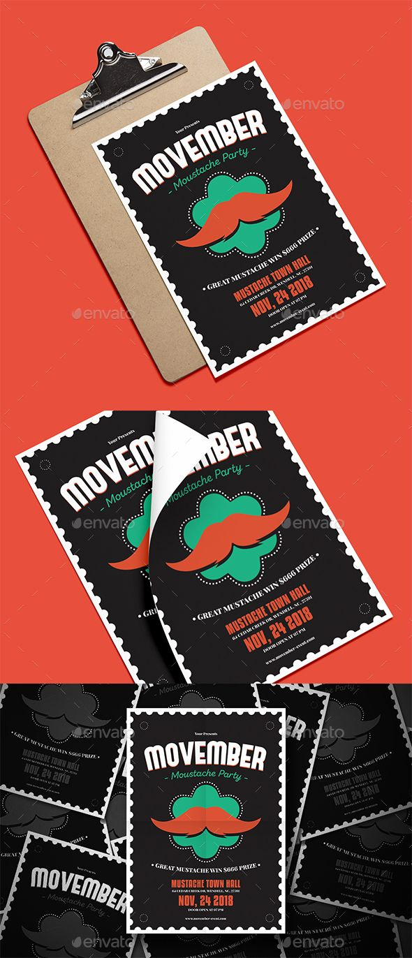 Movember Event Flyer File Features:Psd & Ai Files Size A4