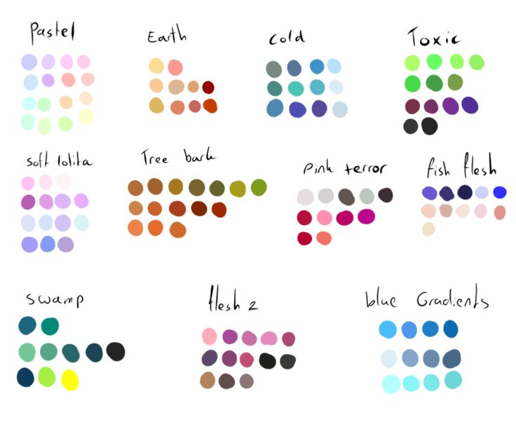 Free To Use Color Pallettes Pack  By Shadowinkadopts