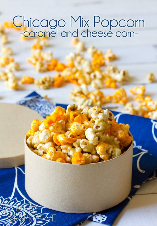 pretty much the most addictive popcorn in the world, and now you can make it at home!!! {Copycat} Garrett's Chicago Mix Popcorn Recipe via @Sommer | A Spicy Perspective