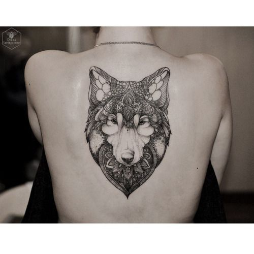 Cover up #wolf #blacktattoo #blackndark #onlyblackart...