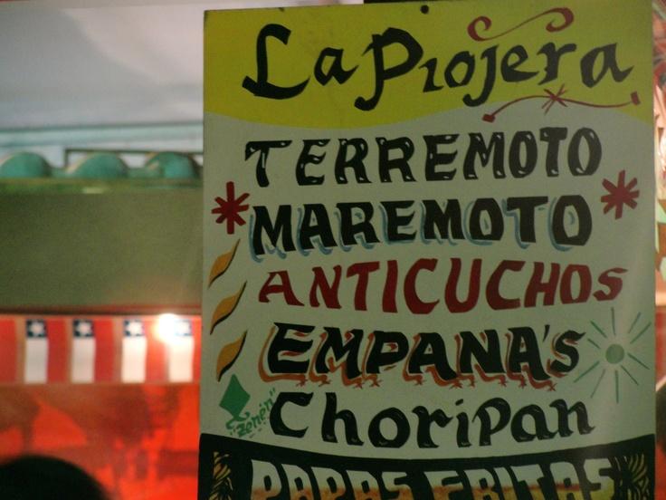 """""""La Piojera"""" El local con los mejores terremotos( trago chileno) -Santiago , Chile"""