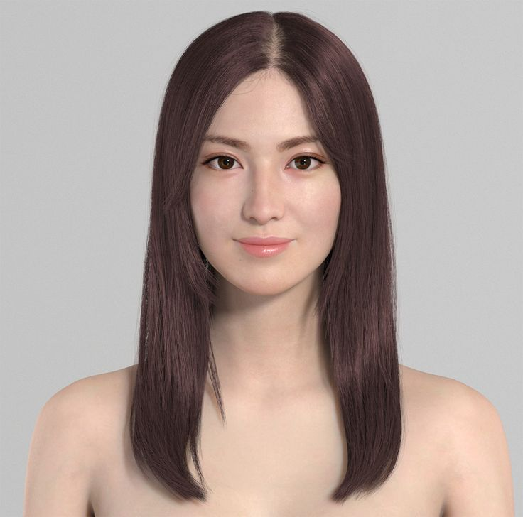 ArtStation - Female Project Hairstyle NO.2, Qi Sheng Luo
