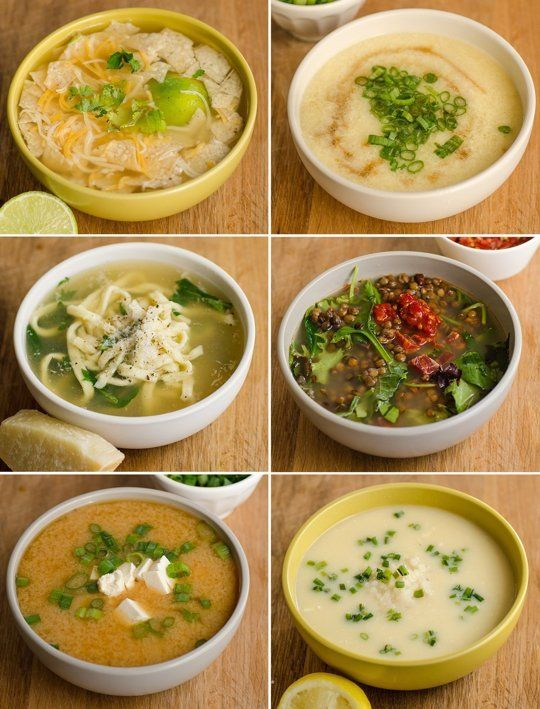 6 Ways to Turn Broth into Dinner--this is actually very thoughtful and has some things I hadn't thought about.