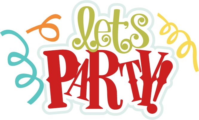 Lets Party SVG scrapbook title birthday svg files birthday ...