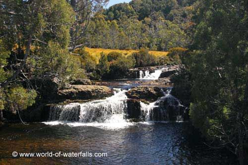 This was the cascade seen from the road bridge near one end of the Enchanted Walk (though we didn't end up doing that walk)  Cradle Valley, Tasmania, Australia