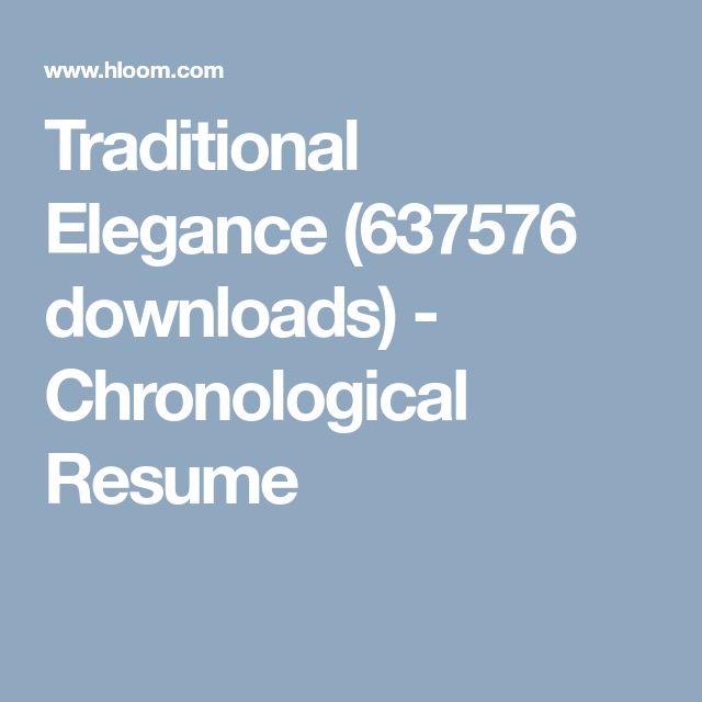 25+ unieke ideeën over Chronological resume template op Pinterest - traditional resume