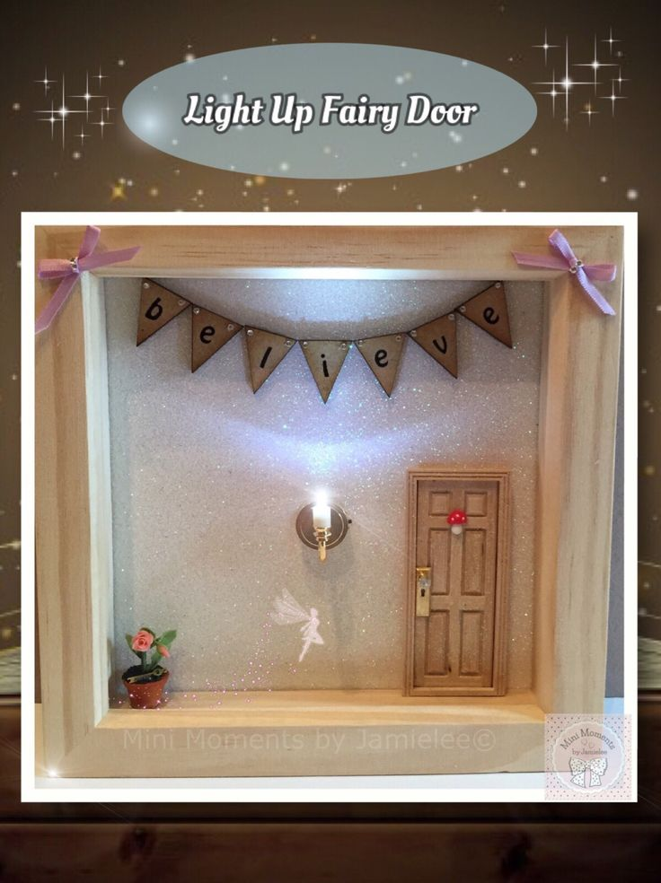 Original Mini Moment by Jamielee Light Up Fairy Door Frame© From Mini Moments by Jamielee© Www.fb.com/minimomentsbyjamielee