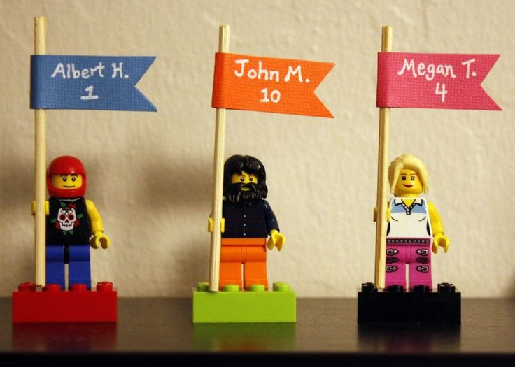 Lego Place Cards, fun idea! #DIY #wedding
