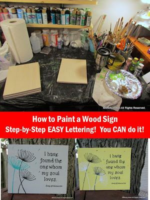 Step-by-step tutorial with photos on how to paint a wood sign including the fancy lettering!