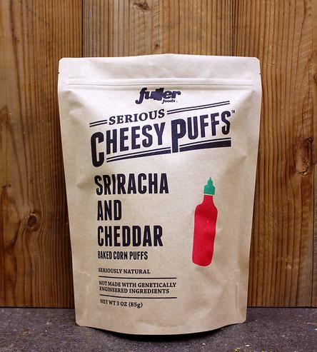 Sriracha & Cheddar Cheese Puffs, 3 bags by Fuller Foods on Scoutmob Shoppe