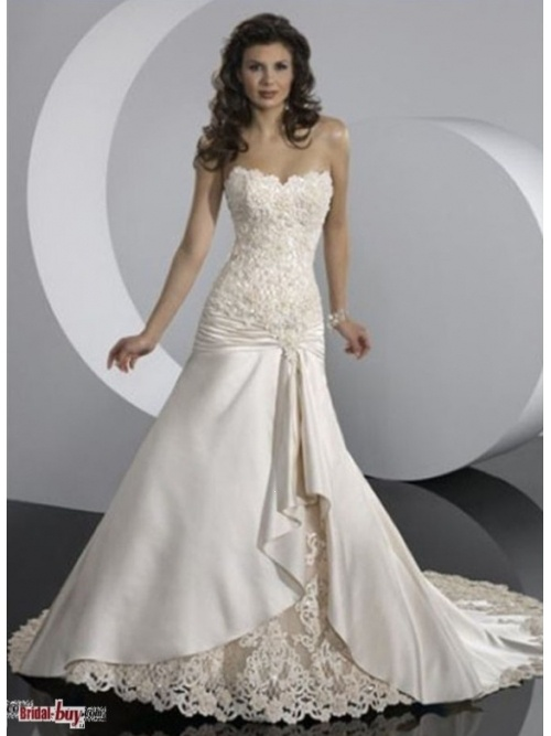 2013 New Fashion Hot Selling Elegant Sweetheart Applique Ivory Vintage Cheap Wedding Dresses Under 200  WD-10396