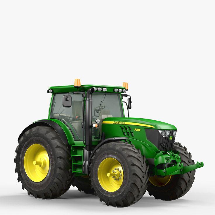 utility tractor john deere 3d model