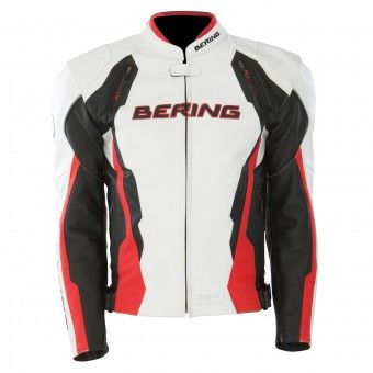 Blouson Moto Bering Kingston Noir Blanc Rouge http://www.icasque.com/Equipement-moto/Vetements-moto/Blouson-Moto/Kingston-Noir-Blanc-Rouge/