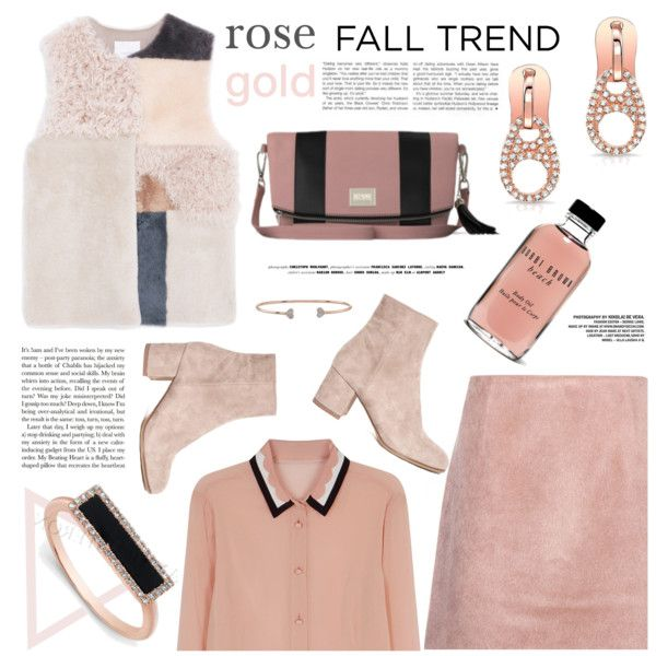 A fashion look from November 2015 by mashajazzliving featuring MANGO, Acne Studios, RED Valentino, Bobbi Brown Cosmetics and rosegold