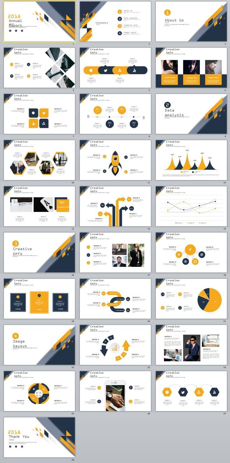 28+ Best creative annual analytics charts PowerPoint Template