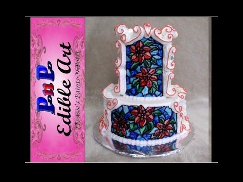 """An """"Interesting to watch"""" Video. This is not meant as a tutorial...sorry folks! I covered a dummy cake in cream colored fondant, then hand piped the scrolls ..."""
