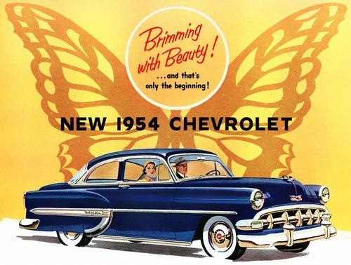 The 1954 Chevrolet1954 Cars, Chevrolet Bel Air, First Cars, 1954 Chevrolet, Vintage Cars, Vintage Automobiles, 1954 Chevy Belair, Rats Rods, Automobiles Advertis