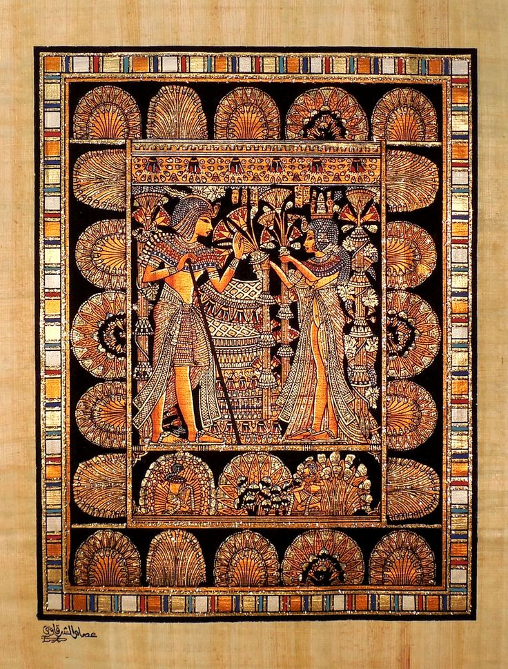 Ancient Egyptian costume history. Decoration and coloring