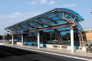How bus shelters in Markham, Ontario integrate steel, glass, electrical, mechanical functions - Atlas Connection