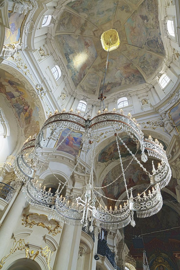 Inside St. Nicholas Church in Prague
