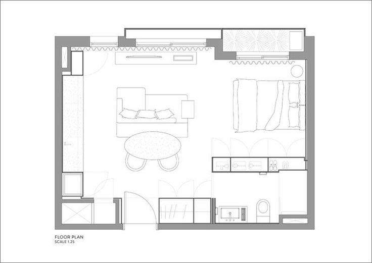 Architects Raquel Zaffalon and João Pedro Crescente of AMBIDESTRO / 40m2 apartment in Porto Alegre, Brazil