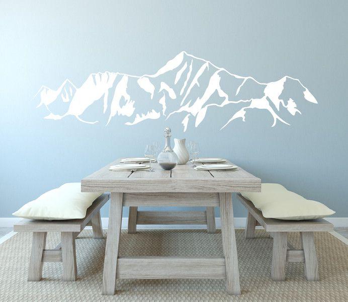 Wandtattoo – Wandtattoo Berge – Landschaft Wandsticker weiss – ein Designerstück von iDiffer bei DaWanda