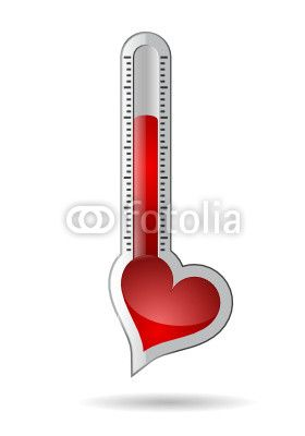 Vektor: Herz_thermometer