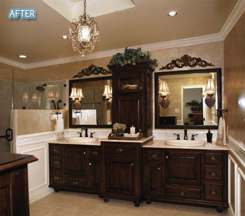 Beautiful Sophistication #bathroom #powder #room #bath #toilet