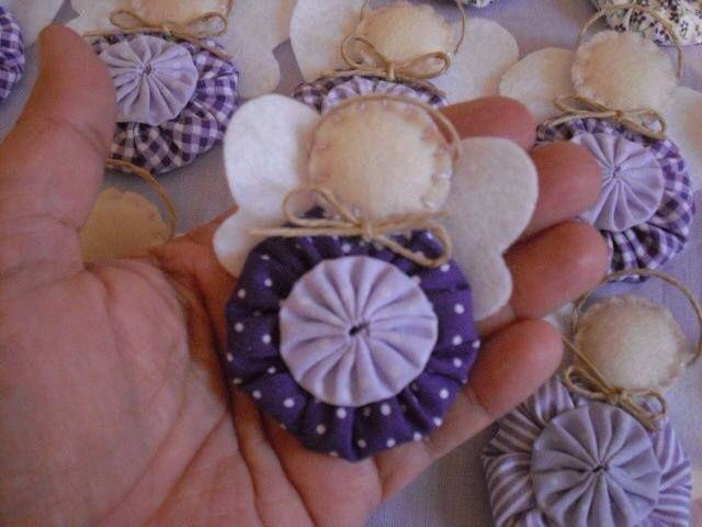 Christmas crafts - little yo yo angel