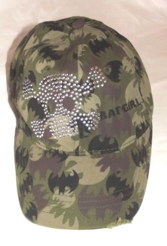 DC Comics Bat Girl Skull Cross Bones Camo Baseball Hat Cap | eBay
