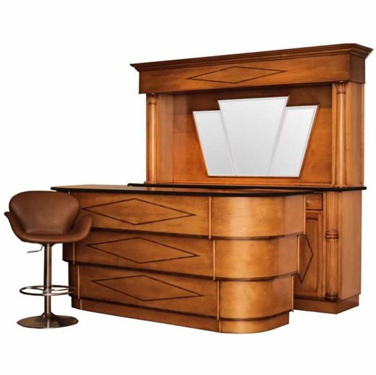 Art Deco Style Front and Back Bar | From a unique collection of antique and modern dry bars at https://www.1stdibs.com/furniture/storage-case-pieces/dry-bars/